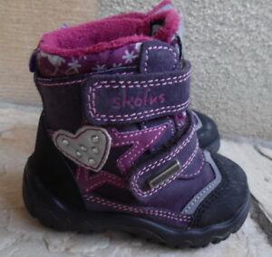Détails sur SCOFUS Bottines chaussures d'hiver impermeable a scratch fille pointure 20