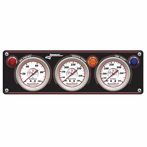 Longacre-Sportsman-Gauge-Panel-With-Gauges-Oil-Pressure-Water-Temp-amp-Oil-Temp