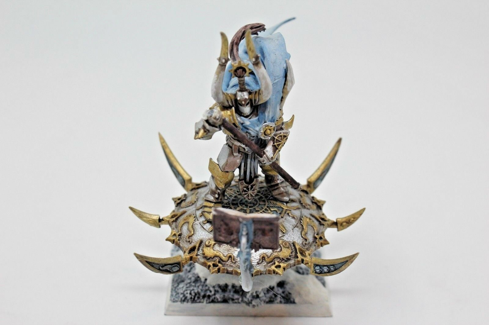 Warhammer Warriors of Chaos Chaos Sorceror on Disk - Pro Painted