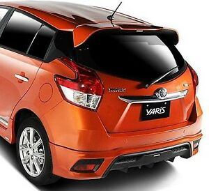 Mit Toyota Yaris Asia Hatchback 2014 On Abs Rear Roof Spoiler Trd Style Painted Ebay