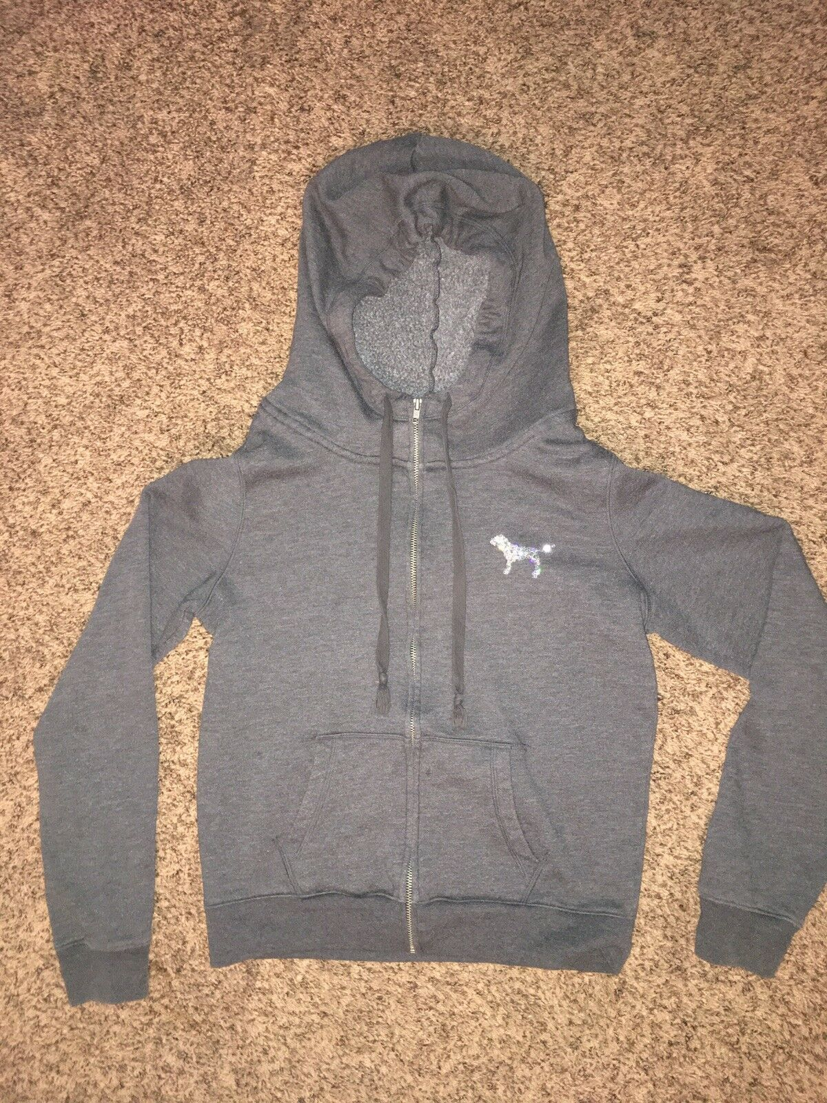 Victoria Secret Grey Sequin Hoodie