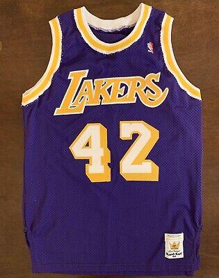 Rare Vintage Sand Knit NBA Los Angeles Lakers James Worthy Basketball Jersey | eBay
