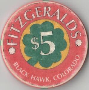 Details about FITZGERALDS BLACK HAWK, COLORADO $5 CASINO CHIP