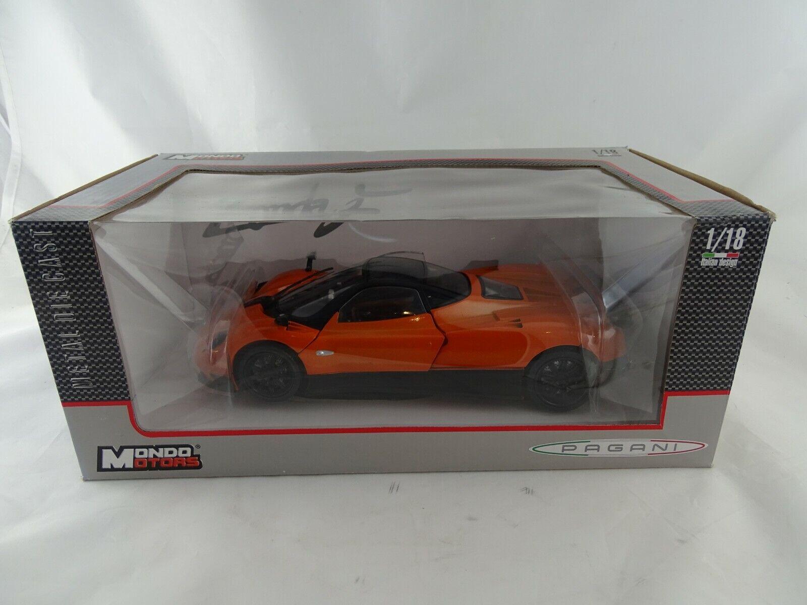 1 18 Mondo Motors Pagani Zonda F Orangemetallic -RARITÄT