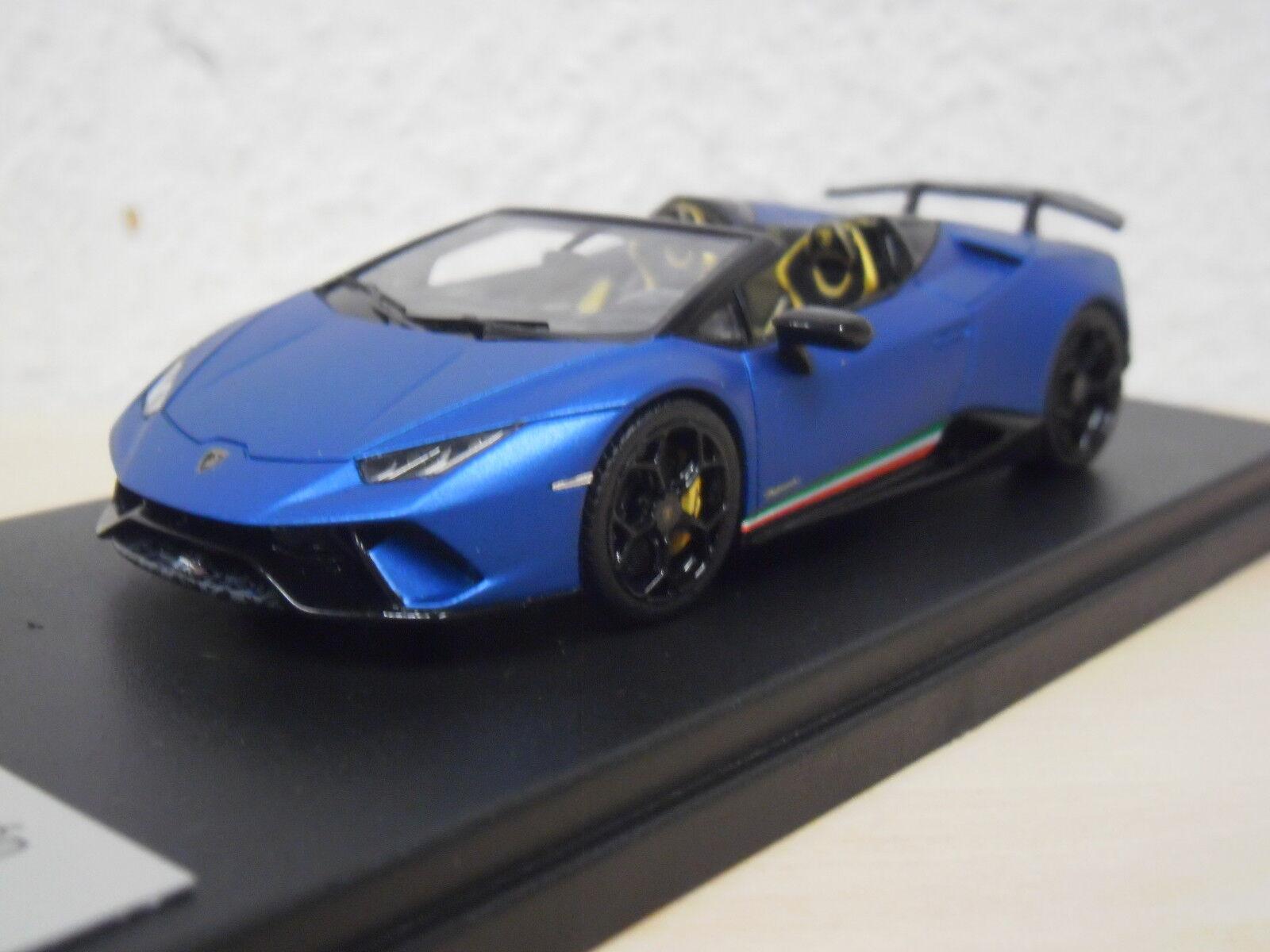 Prix double section  smart-Lamborghini Huracan perforFemmete Spyder-Blu AEGEUS-ls481a 1:43   Moderne Et élégant à La Mode