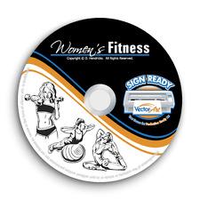Womens Fitness Clipart Vector Clip Art Vinyl Cutter Plottert Shirt Graphics Cd