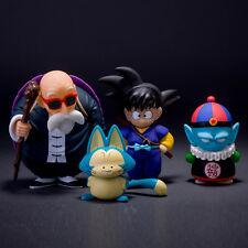 4pcs/lot Dragon Ball Z SON Goku Master Roshi Pilaf Poole PVC Action Figure Toys