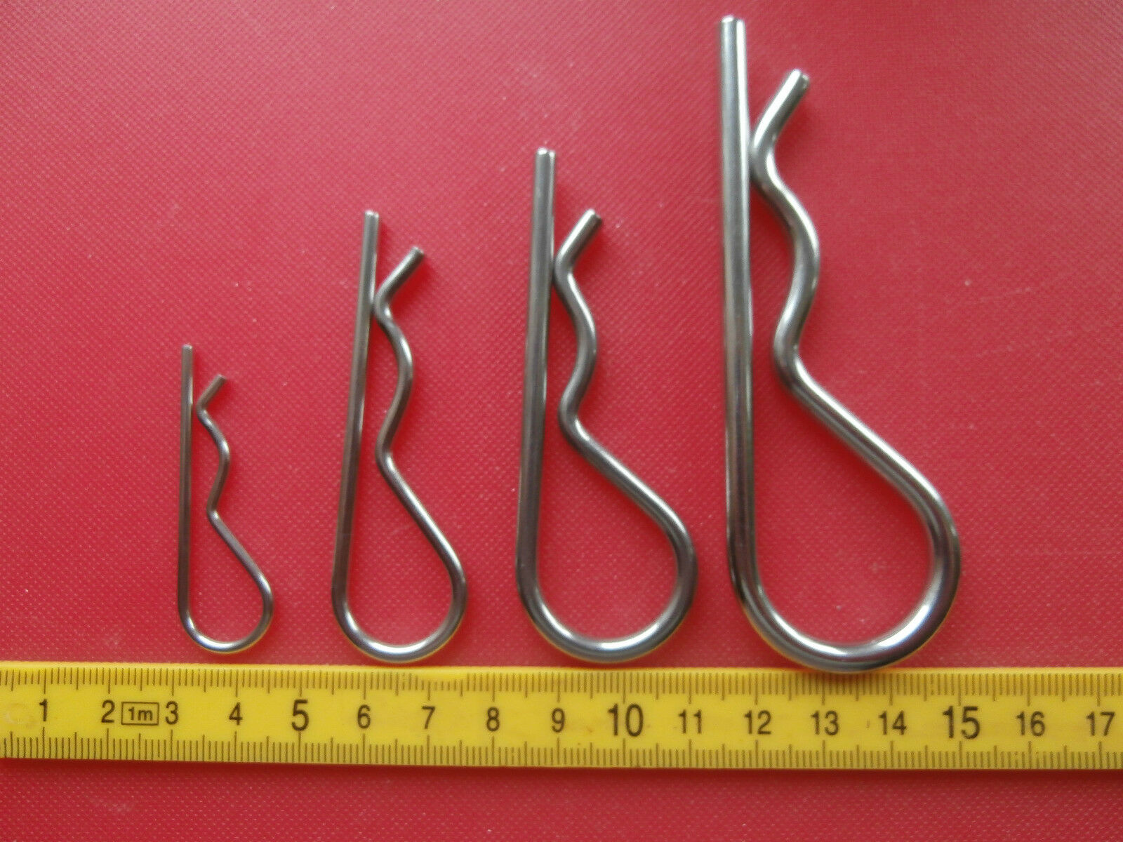 316 A4 Marine Stainless R Clip. Cotter Retaining Clips. 2mm 3mm 4mm & 5mm