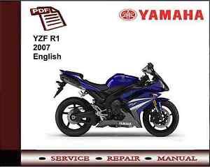 yamaha yzf r1 yzfr1 2007 workshop service repair manual ebay