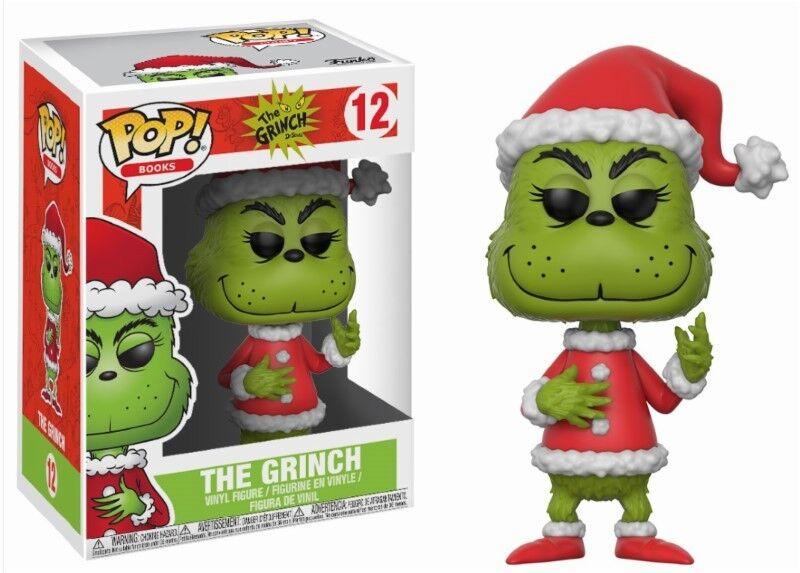 Santa Grinch The Grinch Dr. Seuss Weihnachten POP  Books Vinyl Figur Funko