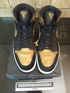 finest selection de0da ac9f7 Image is loading Nike-Air-Jordan-1-Retro-High-Melo-Black-