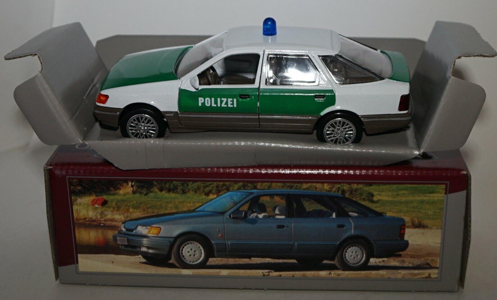 Schabak 1  25 skala - Ford Scorpio Granada Saloon POLlZEI tärningskast -modellllerlbil