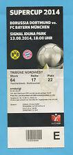 Orig.Ticket  DFB-Supercup  2014   BORUSSIA DORTMUND - BAYERN MÜNCHEN  !!  SELTEN