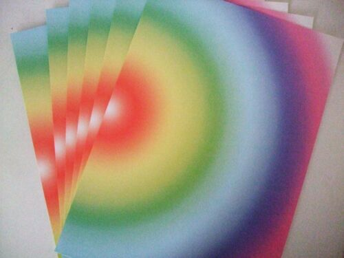 12 pack of A4 cardstock 6-Rainbow card 240gsm 6-Pale Pearlescent card 300gsm