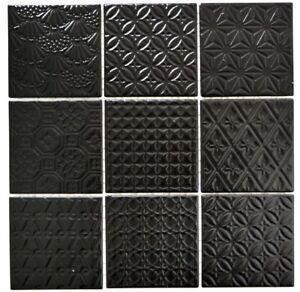 Retro-Vintage-mosaico-piastrella-in-ceramica-nero-Spirit-art-22b-1403-b-1-Tappetino