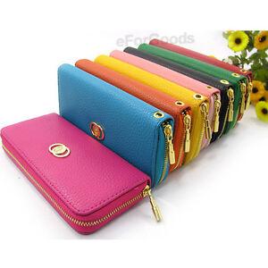 New-Women-Fashion-PU-Leather-Wallet-Zip-Around-Case-Purse-Lady-Long-Handbag-Bag
