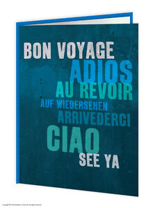 Leaving Bon Voyage Travel Goodbye Good Luck Greetings Card Funny Comedy Humour