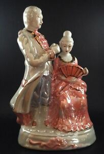 Porcelain-Lustre-Period-Figurine-Poss-Japanese-9-Inch-Tall-FREE-Delivery-UK