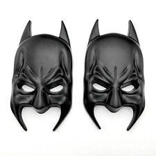 2x Metal Chrome Batman Mask Logo Badge Car Rear Trunk Black Emblem Decal Sticker