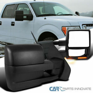 For 07-14 Ford F150 F-150 Tow Mirrors Power Heated Turn Signal Puddle Light