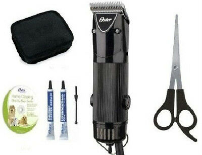 Black Oster A5 Single Speed Pet Animal Dog Clippers+Shear+DVD MADE IN USA