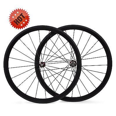 23MM Width/Wider 700C 38mm Carbon Fiber Clincher Road Bike/Bicycle Wheels