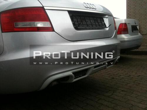 For Audi A6 C6 4F PREFACELIFT SEDAN Rear Bumper  Diffuser Spolier