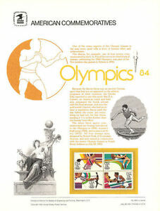 195-13c-Summer-Olympics-2048-2051-USPS-Commemorative-Stamp-Panel