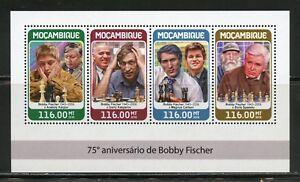 MOZAMBIQUE 2018  75th  ANNIVERSARY  OF BOBBY FISCHER SHEET MINT NH