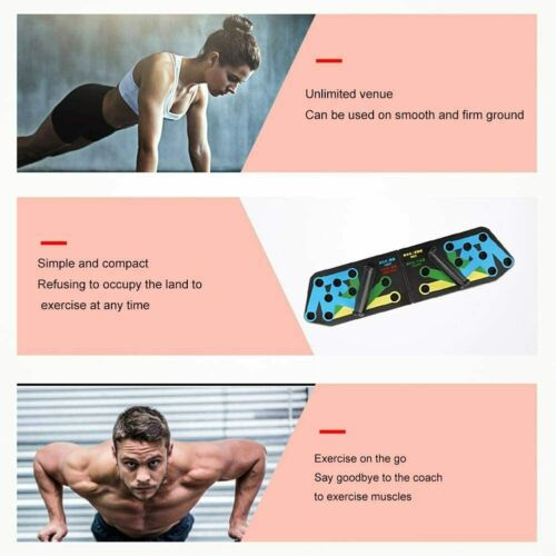 12in1 Push Up Rack Board Fitness Workout Train Gym Muscle Exercise Pushup Stand