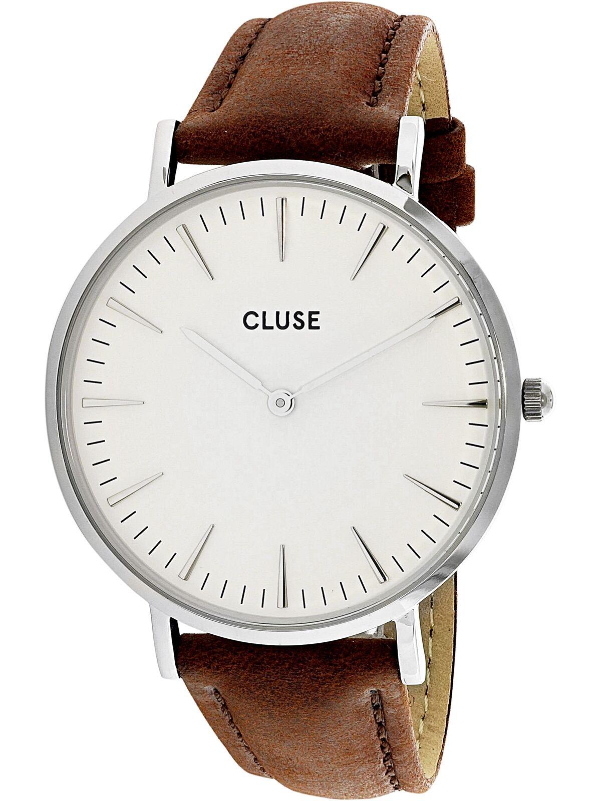 Cluse Boheme La Dial Cl18210 Leather White Ladies Watch Brown 08NwmOvn