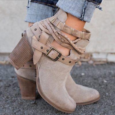 Elegantes Women Boots Zapatos Botas Botines De Mujer Para Vestir Casual De Moda Ebay