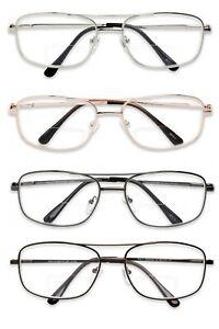 d38a21774c1 1 or 2 Pairs Metal Frame Inner Bifocal Reader Reading Glasses Spring ...