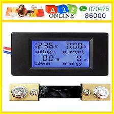 4 In1Digital Meter DC(6.5-100V/100A)Ammeter/Voltmeter/Power Meter/energy Meter*