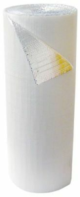 """500sqft 48/"""" x 125/' Single Bubble White Reflective Foil Insulation Vapor Barrier"""