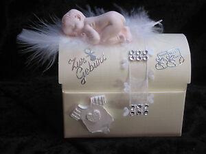 Zur Geburt Geschenkbox Baby Geldgeschenke Babyparty In Rosa Weiss