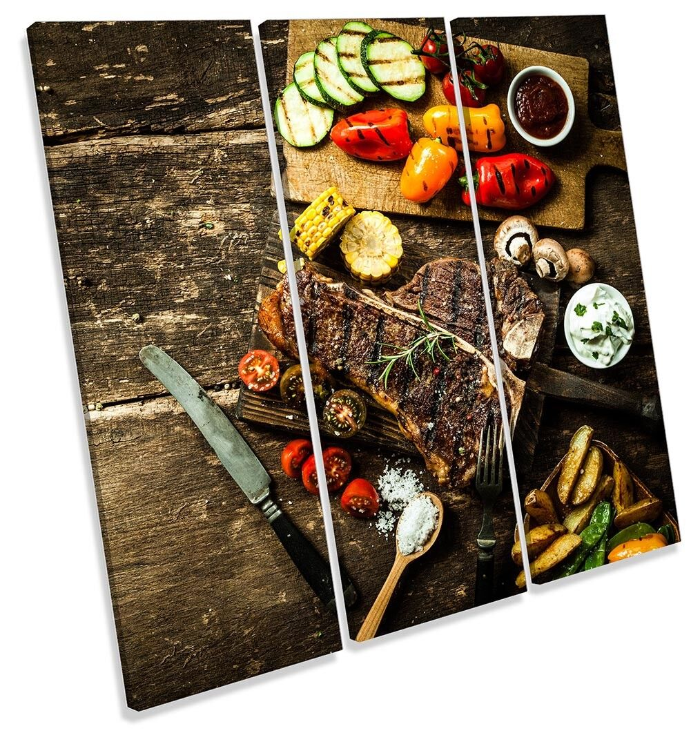 Steak House Cibo Cucina incorniciato Treble stampa stampa stampa art. a muro 71bd09