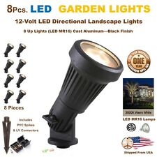 8 PCS LED Landscape Garden Accent Lights Yard Lamp Very Bright 5 Watts Each