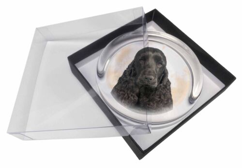 Black Cocker Spaniel Dog Glass Paper in Gift Box Christmas Pres, ADSC20PW