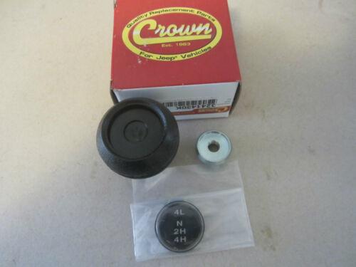 Jeep CJ 5 7 8 Shift Knob Kit Dana 300 Transfer Case knob insert lock nut