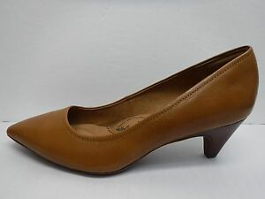 Sofft Size 7 Luggage Brown Leather Kitten Heel New Womens Shoes