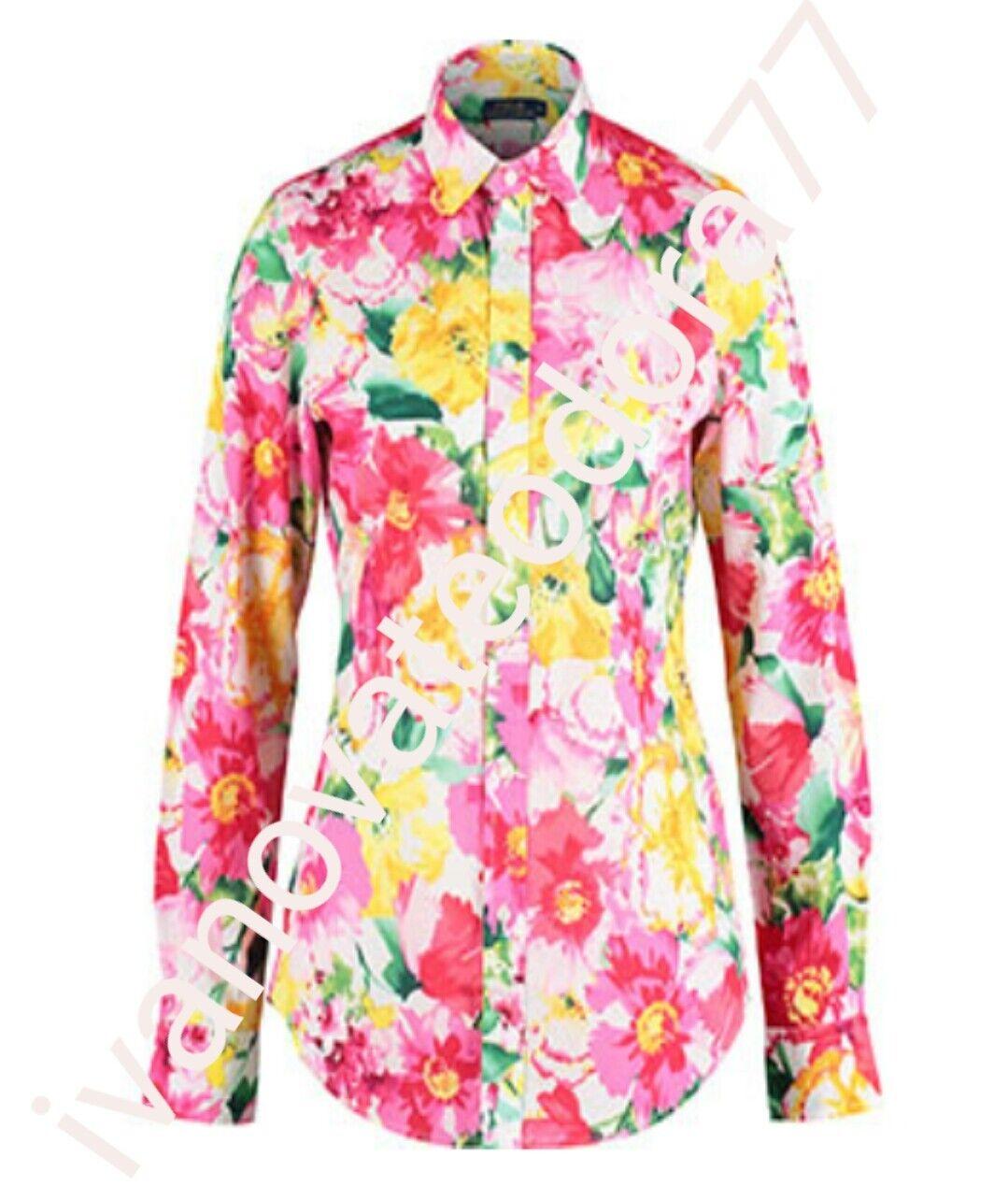 Brand NEW Polo Ralph  Lauren  Woherren   Rosa Floral Shirt