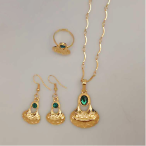 Traditional Papua New Guinea PNG Necklace Earrings Ring Wedding Jewellery Set