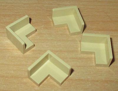 Panelle 1x2 4 Stück Eck Bänke in Tan-Beige Lego Basic