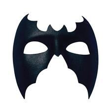 Plain Black Bat Mask Superhero Fancy Dress Masquerade Man Halloween Large Mens