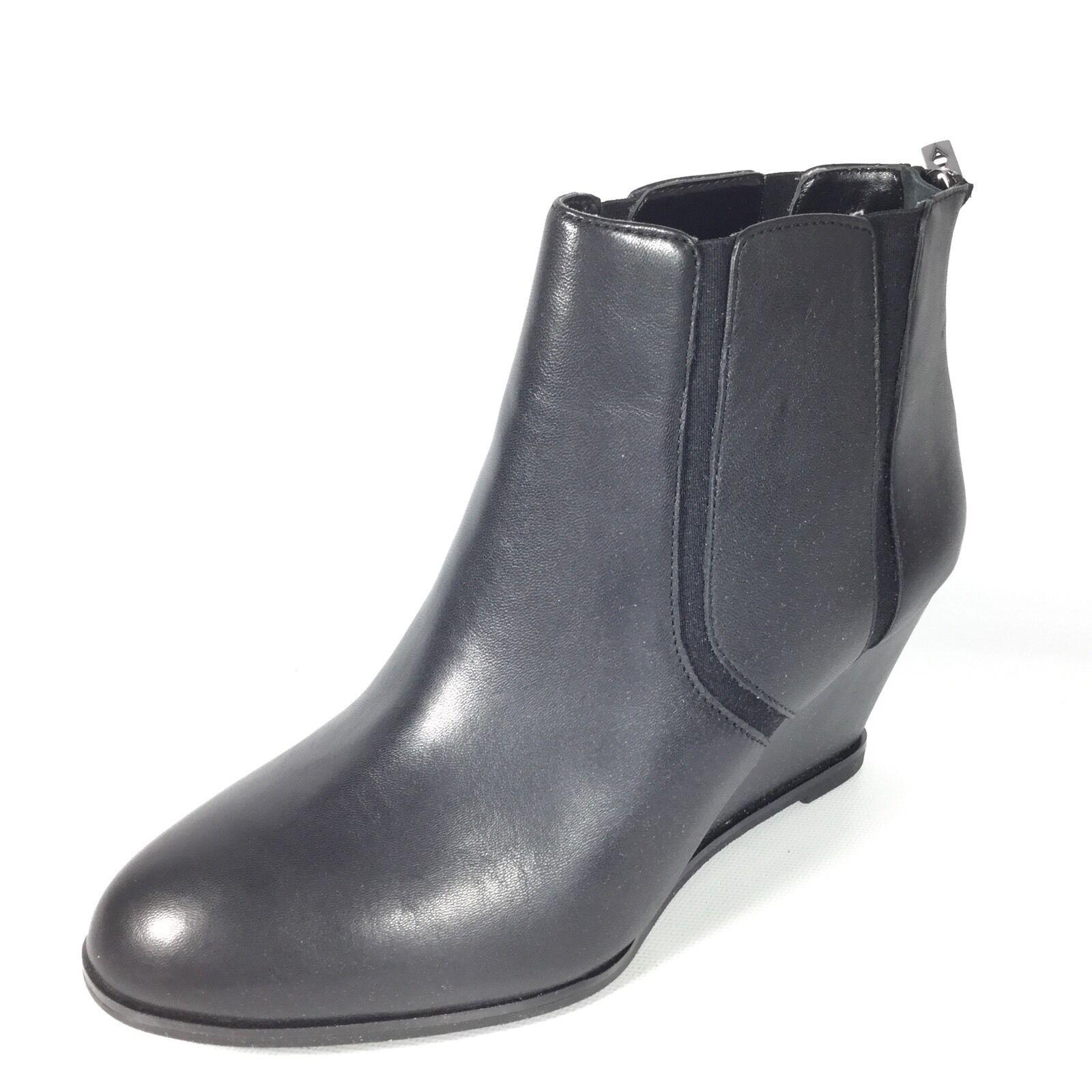Alfani Step N Flex Calistah Women's Size 8 M Black Leather Wedge Ankle Boots.