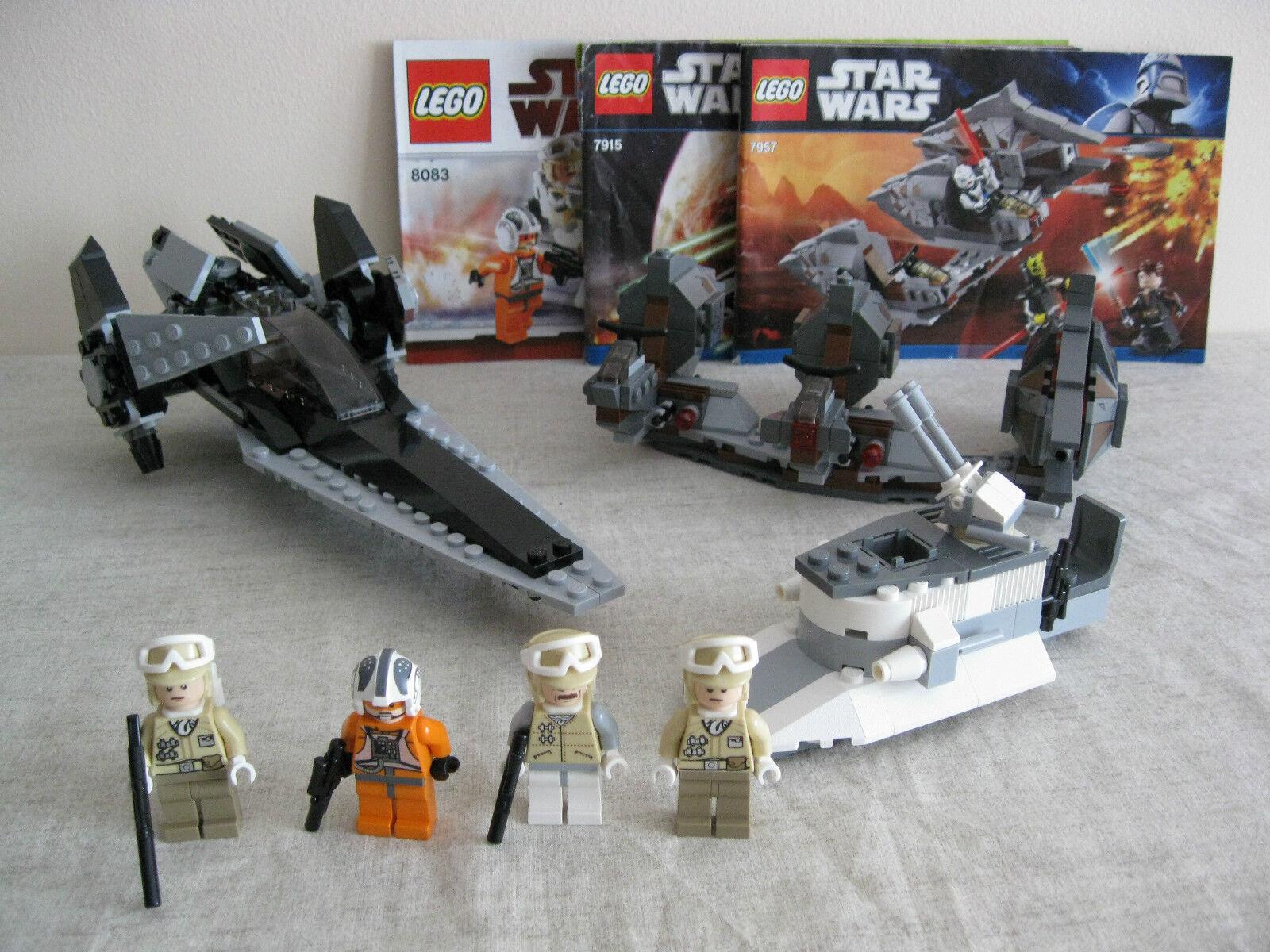 Lego 7915 7957 & 8083 Star Wars Wars Wars Imperial V wing Sith Nightspeeder & Trooper 8aa93f