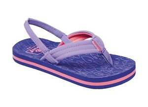 Baby Infant/Girls Reef Little Ahi Flip Flops - Purple Hearts