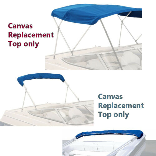 "96/""W BIMINI TOP BOAT COVER CANVAS FABRIC BLUE W//BOOT FITS 4 BOW 96/""L 54/""H 91/"""