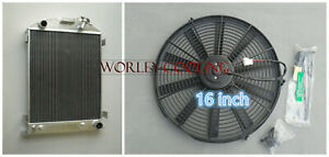 64mm-3-cores-aluminum-radiator-for-1932-FORD-HIBOY-HI-BOY-FORD-engine-16-034-FAN